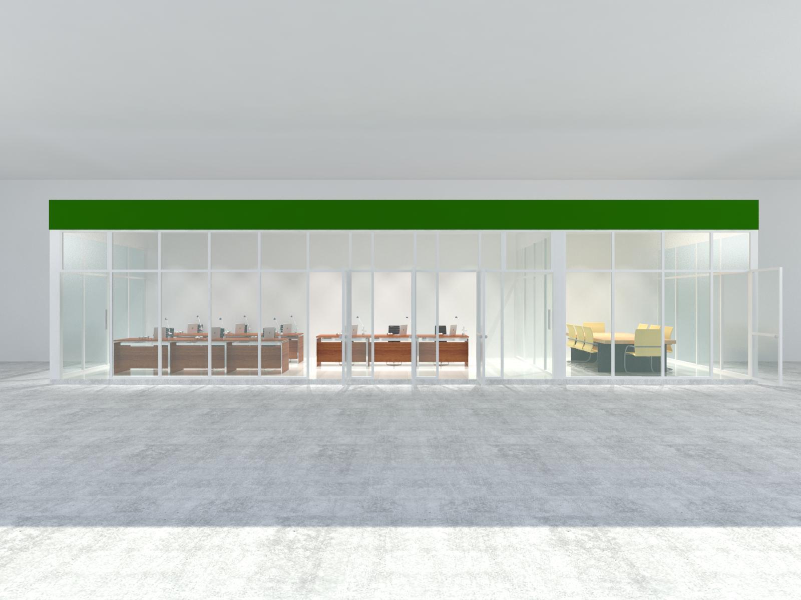 Thi công cửa hàng dịch vụ, cải tạo showroom